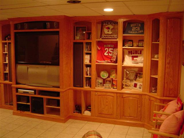 Built In Display Cabinets Painted